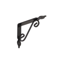 Konzole dekorativní kovaná 190 x 140 mm, gradovaná černá, WOZ 190 HB