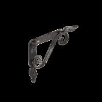 Konzole dekorativní kovaná 140 x 110 mm, antik stříbrná, WOZ 140 AS