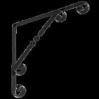 Konzole dekorativní MOD. 4, 250 x 250 mm černá, WO 250 C