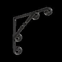 Konzole dekorativní 200 x 200 mm černá, WO 200 C