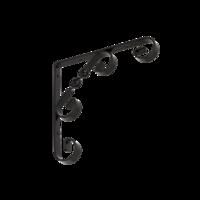 Konzole dekorativní 150 x 150 mm černá, WO 150 C