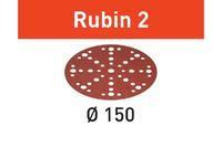 Festool Brusné kotouče STF D150/48 P180 RU2/10 Rubin 2