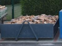 Měkké palivové dřevo štípané 0,33m/8prms malý kontejner