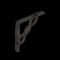 Konzole se splétanou vzpěrou 150 x 150 mm černá, WPRP 150