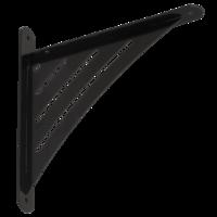 Konzole s trojúhelníkovou děrovanou vzpěrou 194 x 200 x 26 mm černá, WAT 190