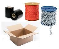 Lana, řetězy a obalový materiál