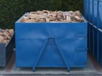 Měkké palivové dřevo štípané 0,33m/12,5prms střední kontejner