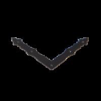 Rohovník ozdobný černý 150 x 150 x 25 x 2,5 mm, NAD 1 C