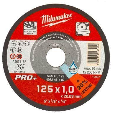 Řezný kotouč Milwaukee na tenký kov PRO+ SCS 41/125x1