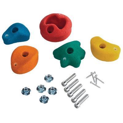 Sada lezecích kamenů 5 ks MIX barev včetně kování - 1