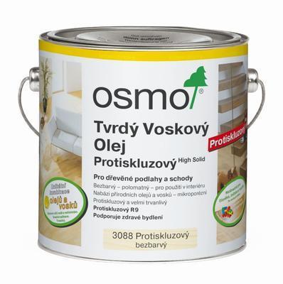 Osmo tvrdý voskový olej protiskluzový 3088 bezbarvý, polomatný (R9) 0,75 l  - 1