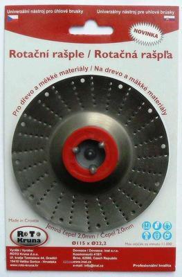 Rotační rašple 115x22,2mm-standard čepel 2,0mm
