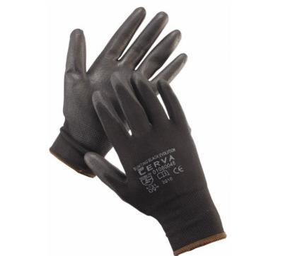 Rukavice nylonové černé PU dlaň vel. 7 BUNTING