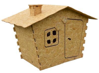 Dětský domek OSB 1850 x 1220 x 1260 mm - 1