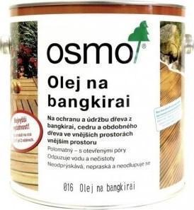 Osmo terasový olej, 016 olej na dřevo Bangkirai tmavý, přírodně zbarvený 2,5 l