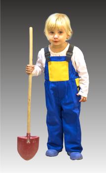 Dětské laclové kalhoty 128