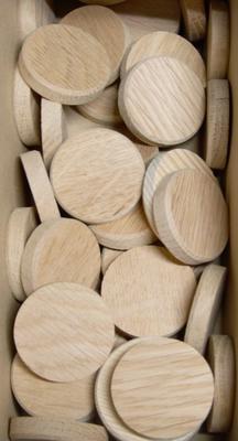 Dubové suky (masiv), 40 x 7 mm, 1 ks