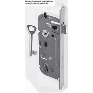 Zámek pro domovní dveře 90/40, rozteč 90, dorn 40, zádlab 60 - klíčový L/P