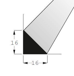 Lišta trojúhelníková 1616 BOROVICE/100