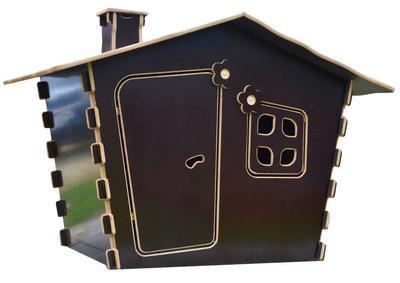 Dětský domek vodovzdorná překližka 1850 x 1220 x 1260 mm - 1