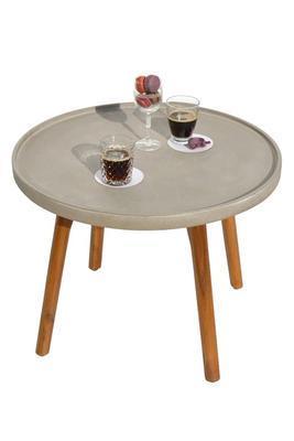 Odkládací stolek MIRA světle šedá velký  - 1