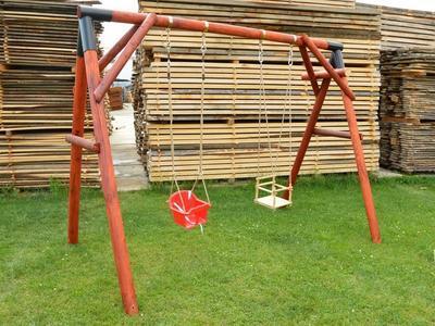 Dřevěná dětská houpačka (skládačka) - 1