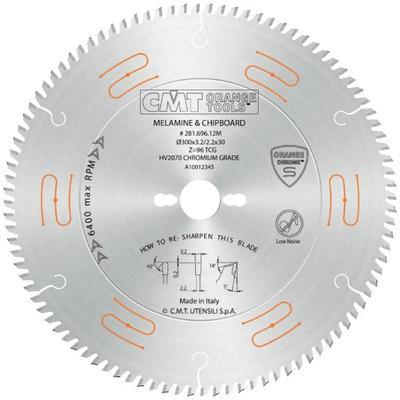 Pilový kotouč na lamino, DTD a MDF D300 x 3,2 x 30 Z96, CMT C281 - 1