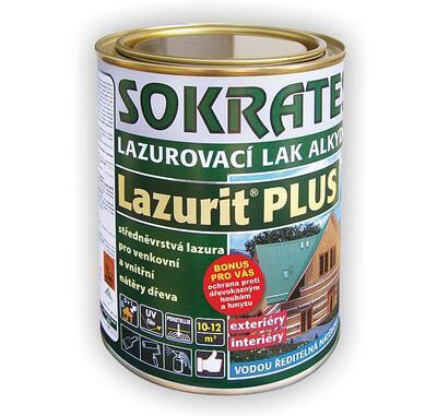 Sokrates Lazurit PLUS alkydový teak 0,7 kg - 1