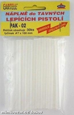 PAK 01 Tavná náplň 11,2 x 200 mm, velká 12 ks čirá