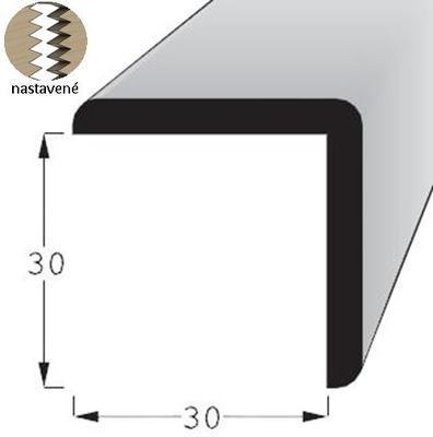 Lišta rohová vnější R 3030 SMRK/240 nastavovaná - 1
