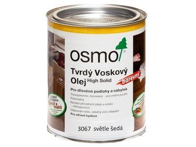 Osmo tvrdý voskový olej barevný 3067 světle šedá 0,75 l  - 1