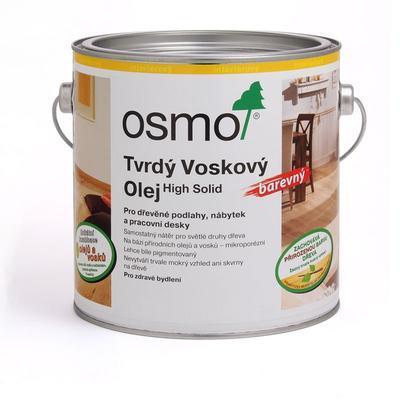 Osmo tvrdý voskový olej barevný 3040 transparentně bílý, na dubu, 0,75 l  - 1