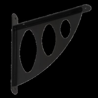 Konzole s děrovanou oválnou vzpěrou 194 x 200 x 26 mm černá, WAO 190