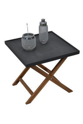 Odkládací stolek AMY tmavě šedá velký  - 1