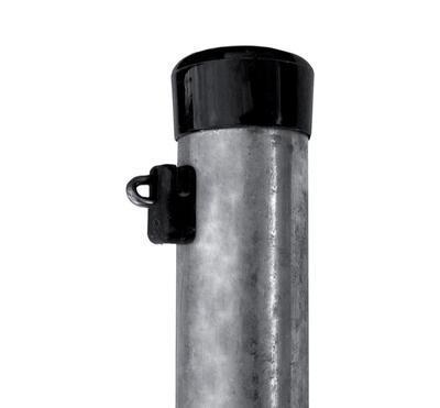 Plotový sloupek IDEAL Zn 2300/38/1,25mm stříbrný kulatý
