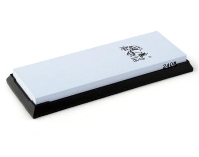 Brusný kámen korundový s gumovou podložkou TAIDEA, o zrnitosti 240, jednostranný