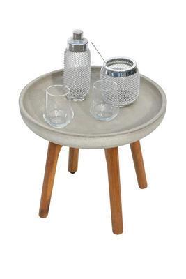 Odkládací stolek LAURA světle šedá malý - 1