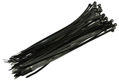 Stahovací pásky 4,8x200mm černé 50ks