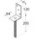 """Patka sloupku typu """"L"""" 84 x 130 x 5 mm, PS 84 L - 2/3"""