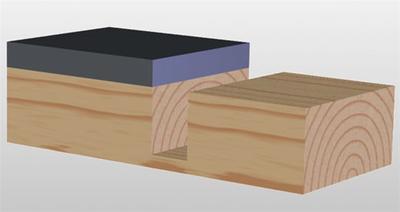 Drážkovací fréza s ložiskem D16 x 25 x 65 S=8 HM Fachmann M112  - 2