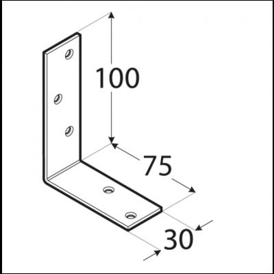 Úhelník trámový 100 x 75 x 30 x 3 mm, KB 1 - 2