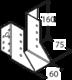 Trámová botka 60 x 160 x 2 mm, WB16 - 2/3