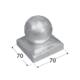 Stříška čtvercová s koulí pro sloup 70x70 mm DKK 70 - 2/2