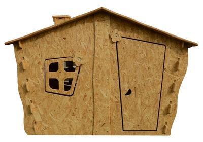 Dětský domek OSB 1850 x 1220 x 1260 mm - 2