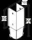 Patka sloupku k zarážení 101 x 900 mm PSG 100/900 - 2/3