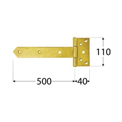 Závěs brankový 500 x 110 x 65 x 40 x 4,0 mm, ZBW 500 - 2