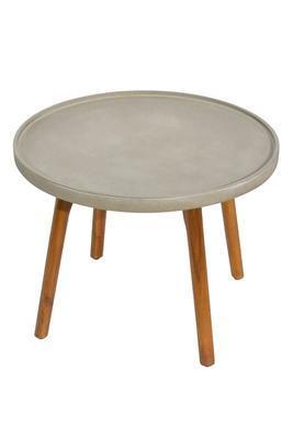 Odkládací stolek MIRA světle šedá velký  - 2