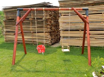 Dřevěná dětská houpačka (skládačka) - 2