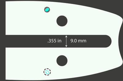 "Lišta vodící 15"", typ D009 Pro-Lite 158SLHD009 - 2"