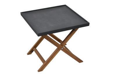 Odkládací stolek AMY tmavě šedá velký  - 2